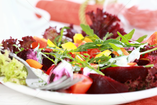 Vegetable salad with beetroot Stock photo © brebca