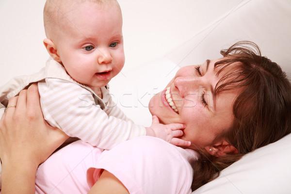 家族 瞬間 母親 かわいい 赤ちゃん ストックフォト © brebca
