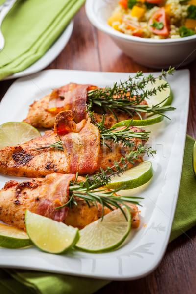 鶏の胸肉 ハーブ クスクス サラダ 乳がん 鶏 ストックフォト © brebca