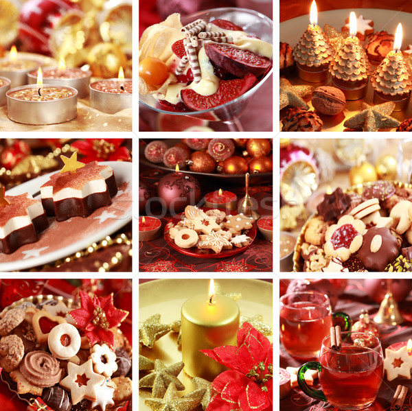 Christmas collage Stock photo © brebca