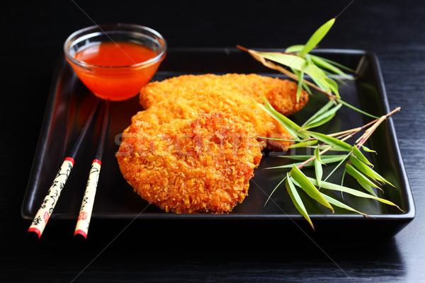 Frito chile pechuga de pollo caliente salsa pollo Foto stock © brebca