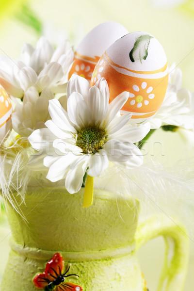 Foto d'archivio: Pasqua · dettaglio · easter · eggs · primavera · uovo · tavola
