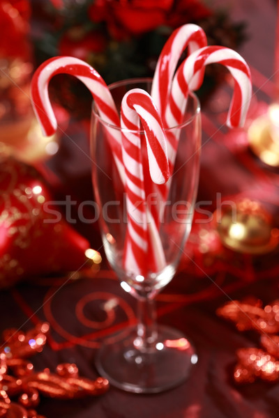 Christmas candy canes Stock photo © brebca