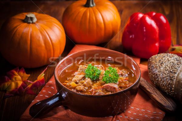Gurme çorba geleneksel mutfak restoran Stok fotoğraf © brebca