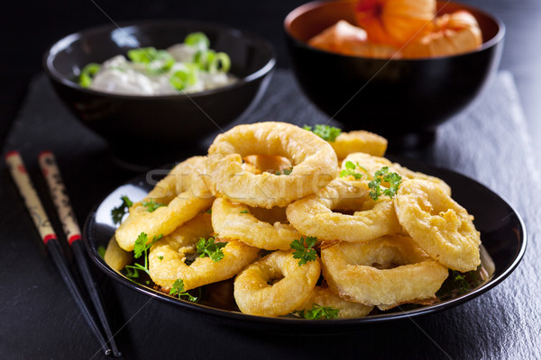 Calamari rings Stock photo © brebca