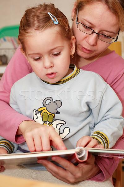 Reading with mom Stock photo © brebca