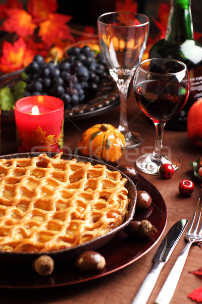 Apple pie for Thanksgiving Stock photo © brebca