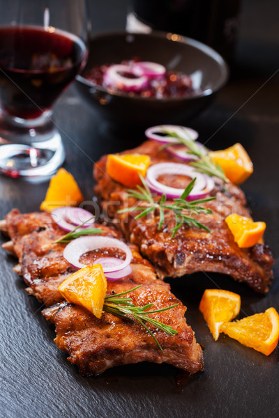 Marinated BBQ spare ribs  Stock photo © brebca