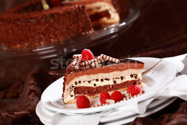 Delicious chocolate cake Stock photo © brebca