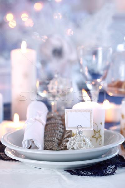 Miejsce christmas biały domu szkła restauracji Zdjęcia stock © brebca