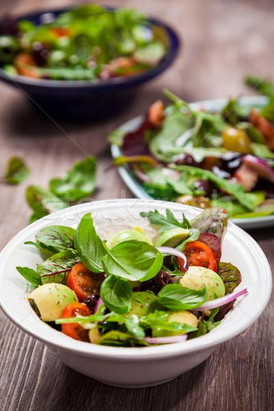 Assortment of veggie salads Stock photo © brebca