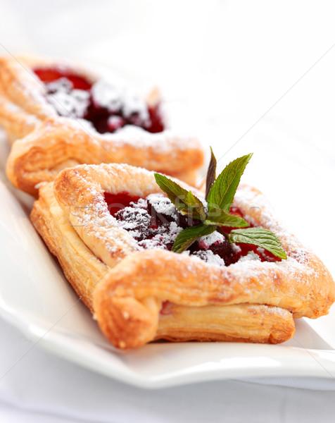 Cherry puff pastry Stock photo © brebca