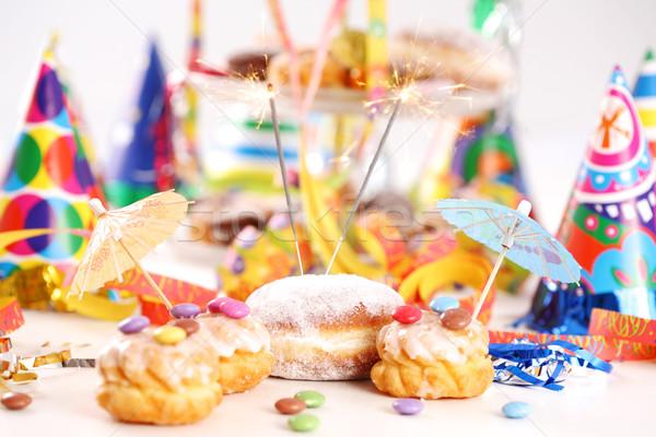 Carnevale party accessori capodanno festa di compleanno torta Foto d'archivio © brebca