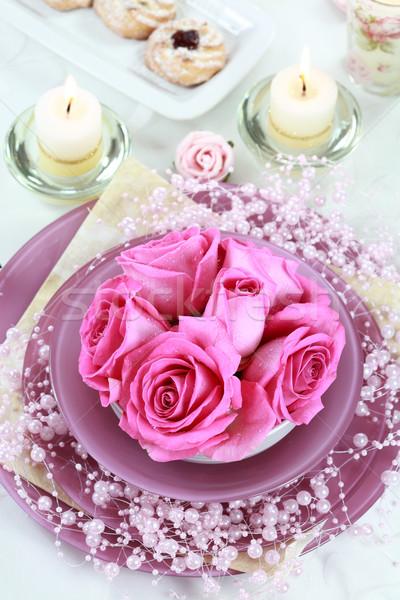 Stockfoto: Plaats · feestelijk · tabel · bruiloft · ander · evenement