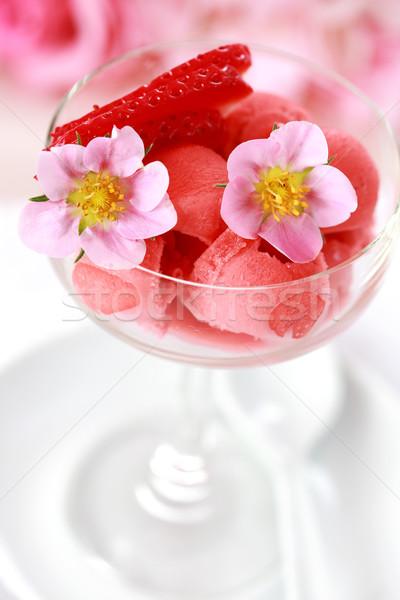 Fragola sorbetto gelato caldo estate frutta Foto d'archivio © brebca