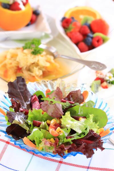 Vejetaryen menü lezzetli lahana çorba karışık Stok fotoğraf © brebca