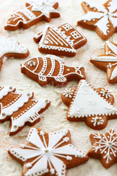 Delicious gingerbread cookies for Christmas Stock photo © brebca