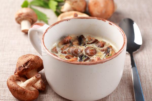Mushroom soup Stock photo © brebca