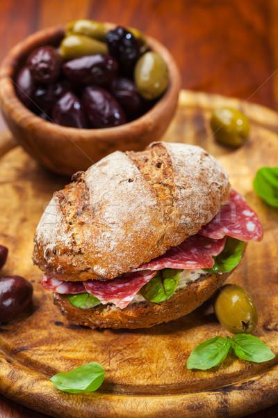 Whole grain sandwich Stock photo © brebca