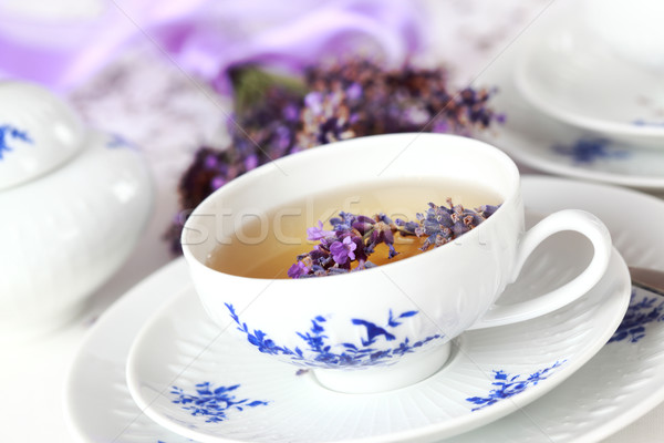 Lawendy herbaty zdrowych wody żywności Zdjęcia stock © brebca