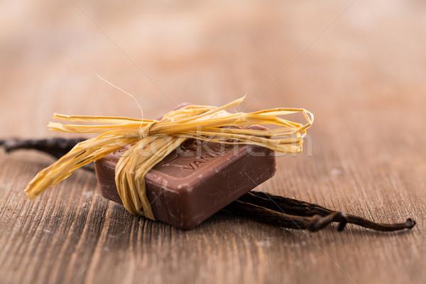 Bars of handmade vanilla soap Stock photo © brebca