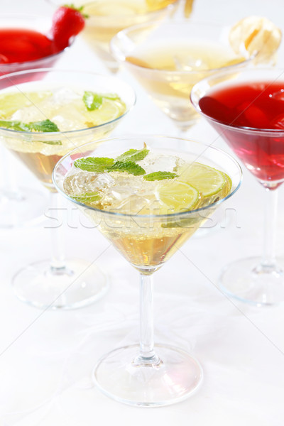 Cocktails diferente comida verão gelo verde Foto stock © brebca