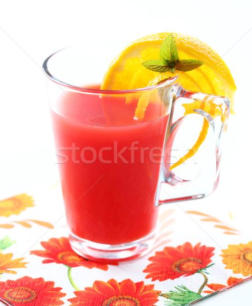 Yaz buzlu çay limonata taze meyve Stok fotoğraf © brebca
