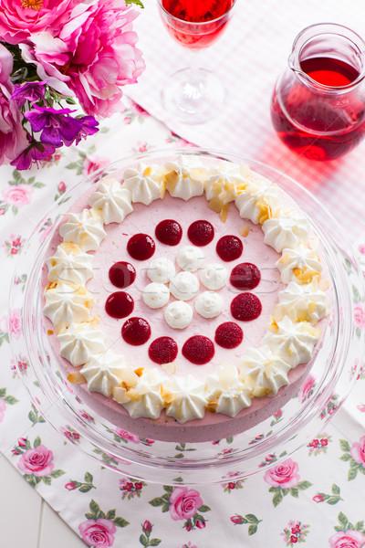 Strawberry cream cake Stock photo © brebca