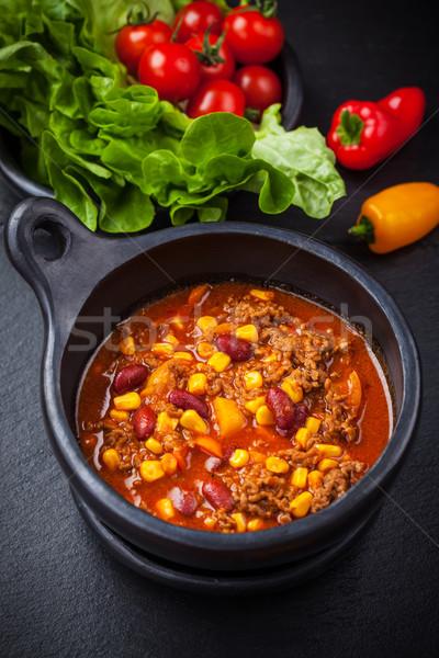 Hot chilli con carne Stock photo © brebca