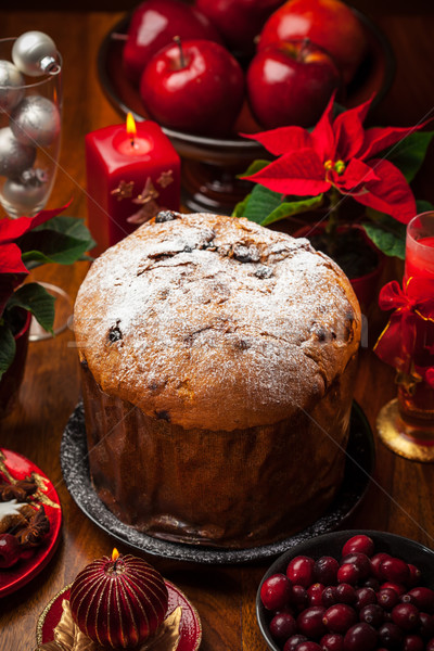 Panettone cake for Christmas Stock photo © brebca