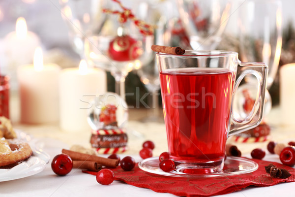 Hot wine cranberry punch  Stock photo © brebca