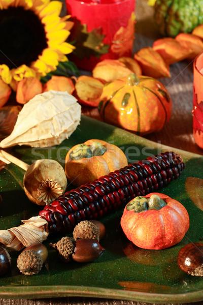 Foto d'archivio: Ringraziamento · ancora · vita · raccolto · tavola · decorazione · mela