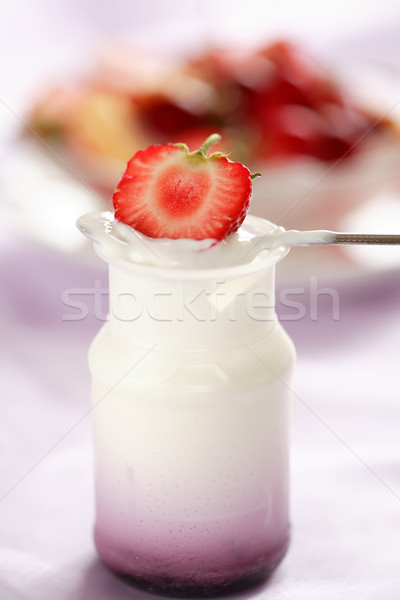 Fruit yogurt with low calorie  Stock photo © brebca