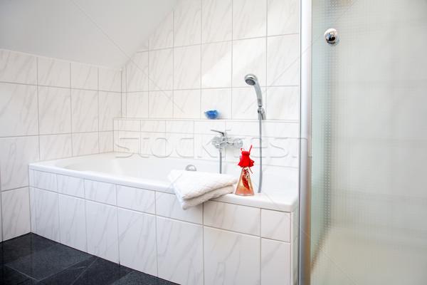 Сток-фото: ванную · подробность · белый · семьи · дома · расслабиться