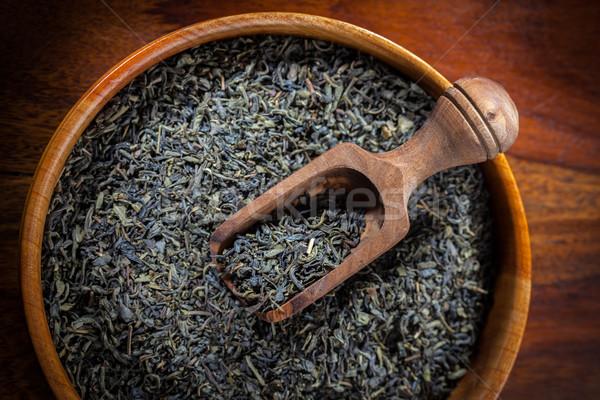 высушите чай чаши зеленый чай древесины Сток-фото © brebca