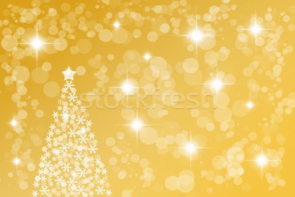 Golden abstract Christmas background Stock photo © brebca