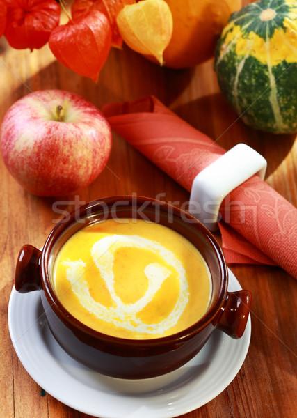 Pumpkin soup  Stock photo © brebca