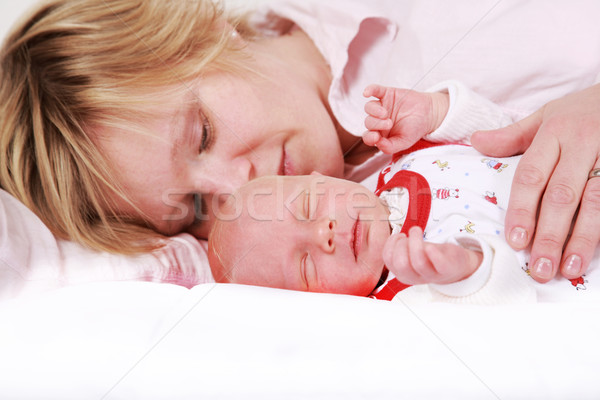 Lovely newborn sleeping  Stock photo © brebca