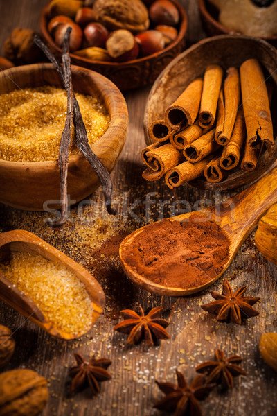 Stock photo: Baking ingredients and spices