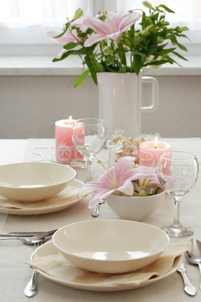 Lugar mesa boda otro acontecimientos flor Foto stock © brebca