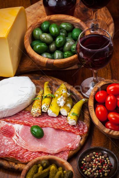 пепперони пальца продовольствие закуски сыра обеда Сток-фото © brebca