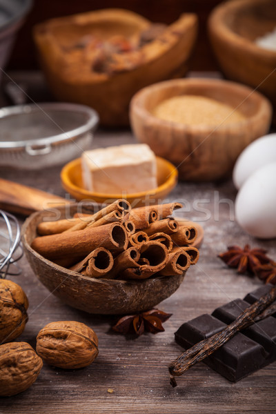 Ingredientes torta cookies papel Foto stock © brebca