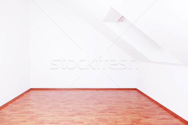 üres szoba mozog ki tető ablak fal Stock fotó © brebca