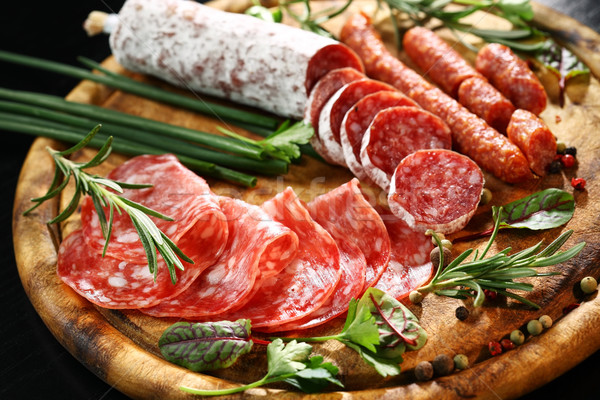 Antipasto dinner platter  Stock photo © brebca