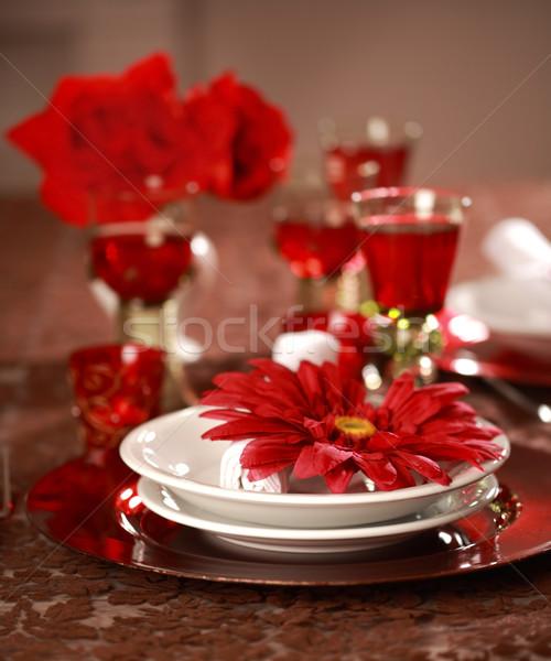 Lujo lugar rojo blanco Navidad otro Foto stock © brebca