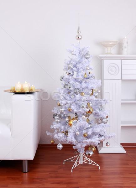 White Christmas tree Stock photo © brebca