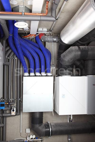 Ar ventilação aquecimento passiva casa eficiência energética Foto stock © brebca