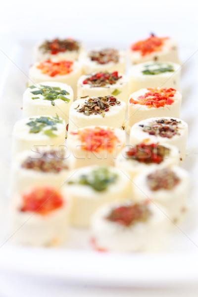 前菜 クリーム チーズ 異なる ハーブ ストックフォト © brebca