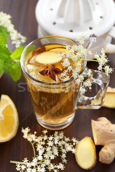 Gingembre ale limonade anis verre Photo stock © brebca