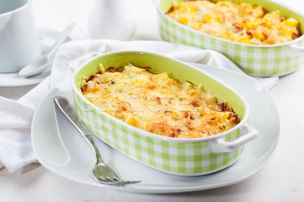 Makarna peynir otlar akşam yemeği hayat öğle yemeği Stok fotoğraf © brebca
